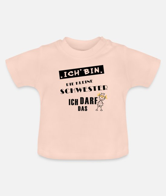 Birthday Baby Clothes - little sister - Baby T-Shirt crystal pink