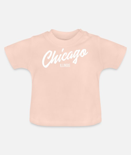 South Side Baby T-Shirts - Chicago Illinois Classic Vintage Spin - Baby T-Shirt Kristallrosa