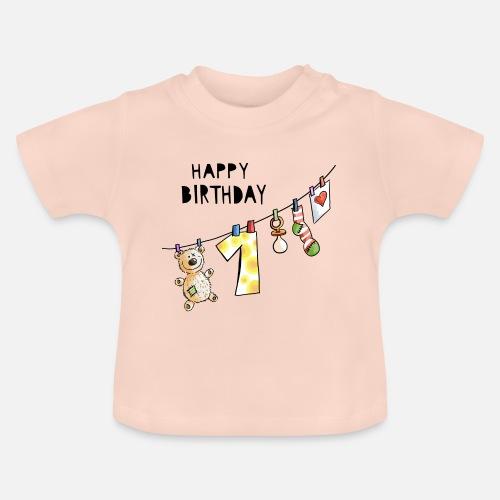 Joyeux Anniversaire Premier Anniversaire Bebe Doux T Shirt