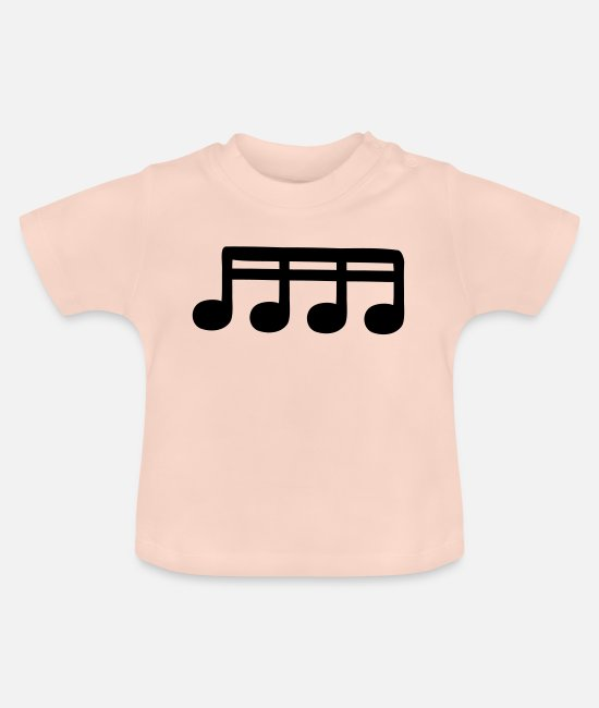 Guitar Baby T-Shirts - sixteenths - Baby T-Shirt crystal pink