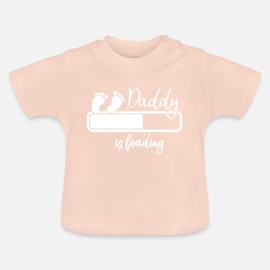 Daddy Father Pregnant Child Baby Gift for Fathers - Baby T-Shirt