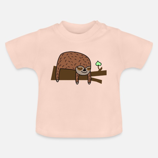 Babyparty Babykleidung - Niedliches Faultier - Baby T-Shirt Kristallrosa