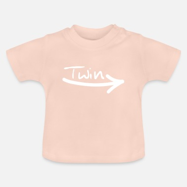 Twins Funny Twin right - Baby T-Shirt