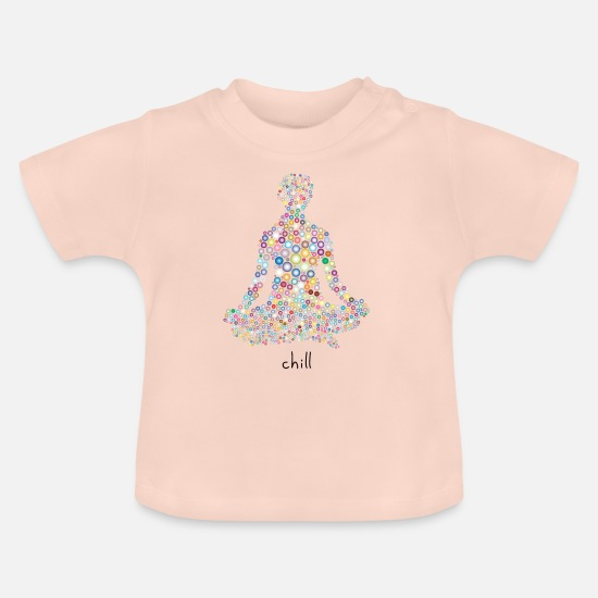 Zen Baby Clothes - chill - Baby T-Shirt crystal pink