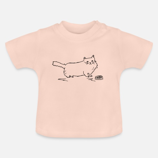 Pet Baby Clothes - CAT Collection - Baby T-Shirt crystal pink
