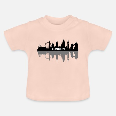 London Stadt Skyline Big Ben Geschenk Shirt Tower - Baby T-Shirt