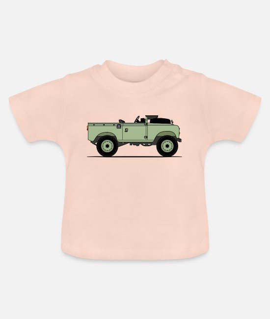 Greenman Baby Clothes - Series 90 Window Down Green - Baby T-Shirt crystal pink