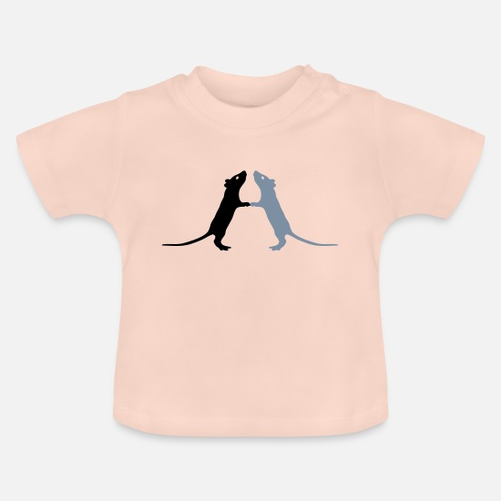 Rat Baby Clothes - Rats - Baby T-Shirt crystal pink