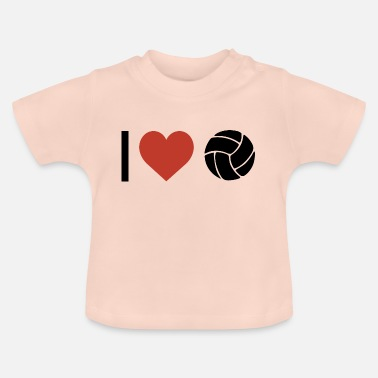 Sports I heart volleyball sport - Baby T-Shirt