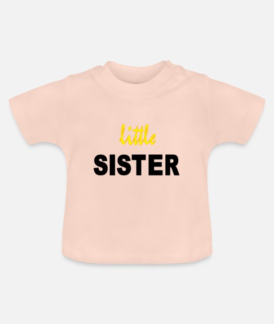 Siblings Baby Clothes - little sister - Baby T-Shirt crystal pink