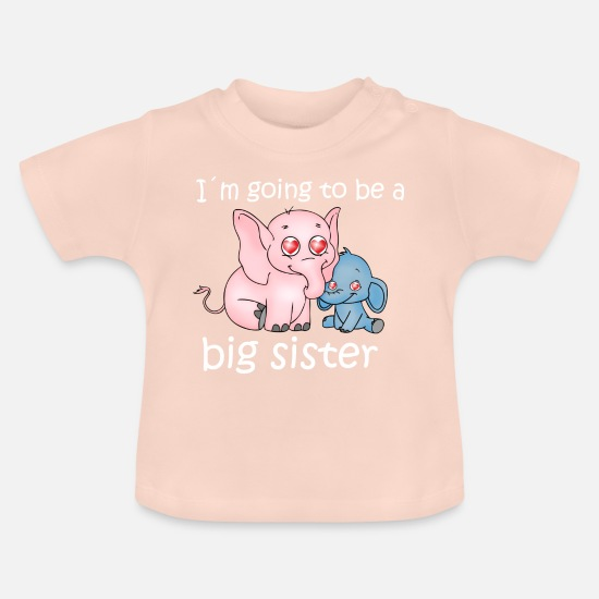 Sister Baby Clothes - big sister - Baby T-Shirt crystal pink