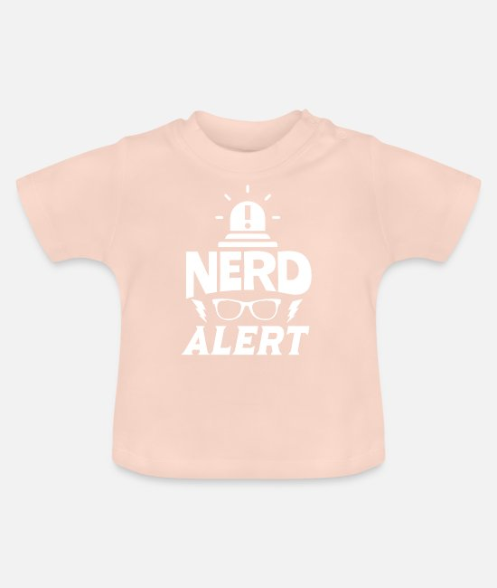 Outsider Baby T-Shirts - Nerd nerd - Baby T-Shirt crystal pink