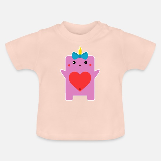 Children Baby Clothes - Monster 5 - Baby T-Shirt crystal pink