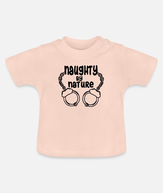 Prisoner Baby T-Shirts - naughty by nature Handcuffed BDSM bondage slave - Baby T-Shirt crystal pink