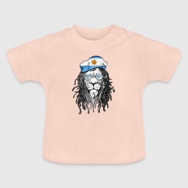 Argentina Lion Cool glasses pride - Baby T-Shirt