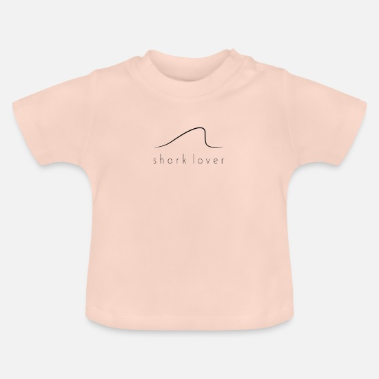 Shark Fin Baby Clothes - Shark lover middle Artboard 1 - Baby T-Shirt crystal pink