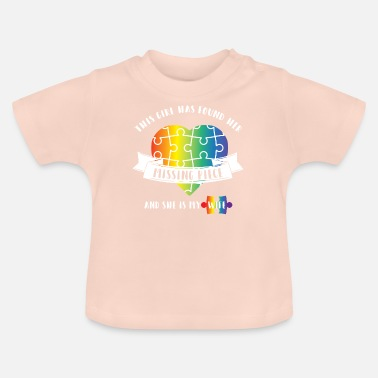 Valentinstag LGBT - Gay - Homosexuell - Partnerlook - Puzzle - Baby T-Shirt