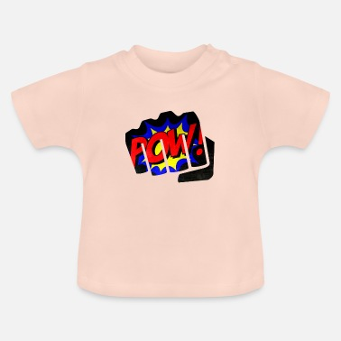 Punch Comic Pow punch punching fist - Baby T-Shirt