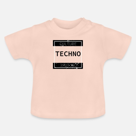 Défilé Vêtements Bébé - Techno Culture Culture Festival Party Rave Shirt - T-shirt Bébé rose cristal