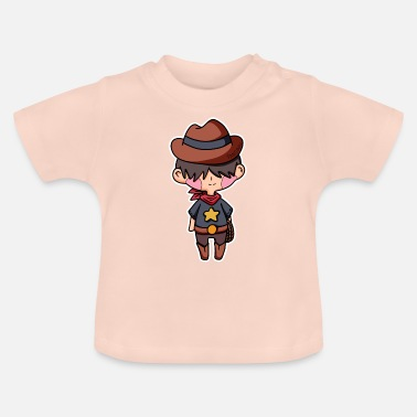 Picture Cowboy Western Sheriff Cartoon Comic Kid Gift - Baby T-Shirt