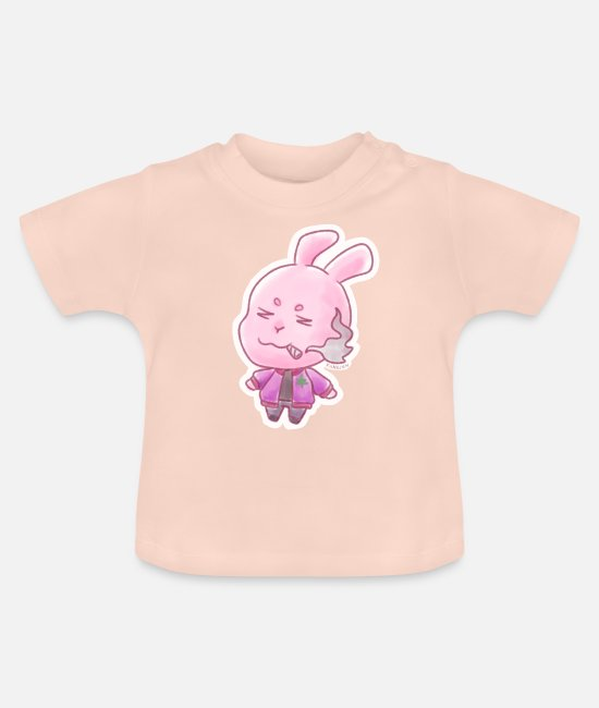 Easter Baby T-Shirts - Hare drugs kippers joint cannabis hemp gift - Baby T-Shirt crystal pink