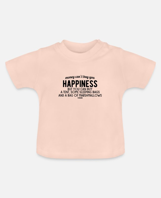 Tent Baby shirts - Camping avontuur wildernis toerisme tent - Baby T-shirt kristalroze