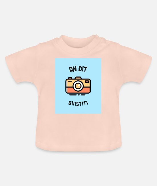 Self Portrait Baby T-Shirts - We say marmoset - Baby T-Shirt crystal pink