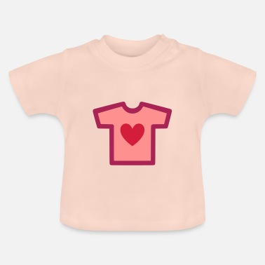 Shape Underwear ★ Design colors changeable ★ T-shirt with heart - Baby T-Shirt