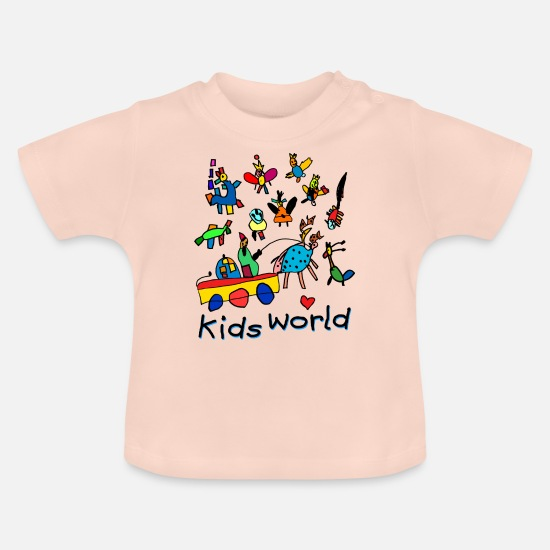Birthday Baby Clothes - Kids World II - Baby T-Shirt crystal pink