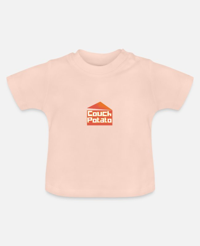 Lazy Baby T-Shirts - couch potato - Baby T-Shirt crystal pink