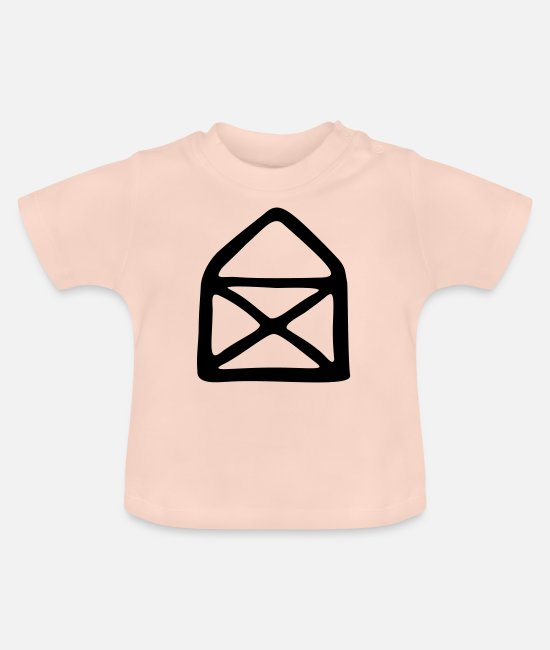 Drawing Baby T-Shirts - House of Nicholas - Baby T-Shirt crystal pink