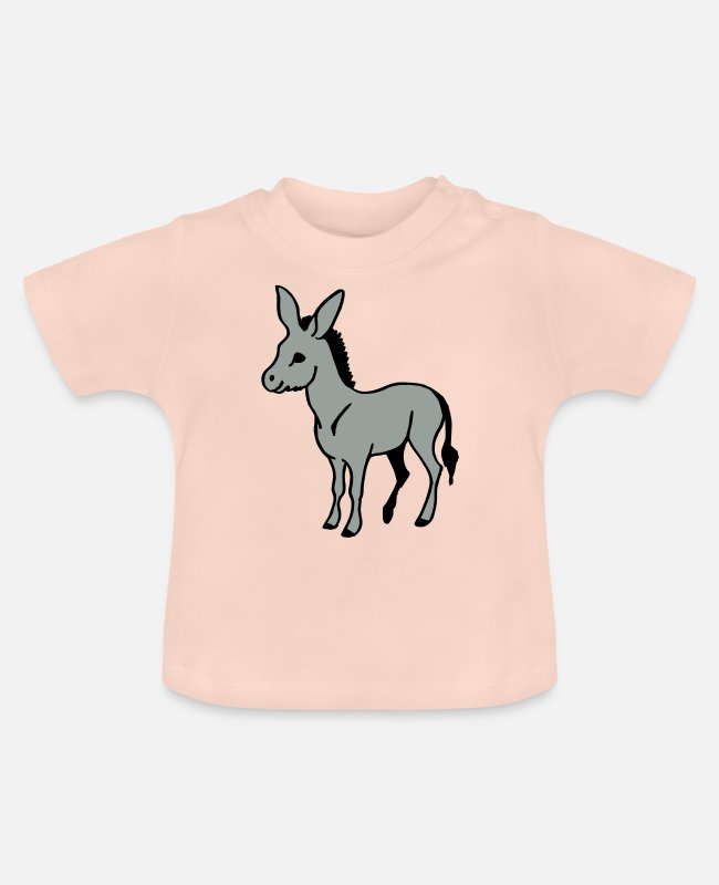 Ride A Horse Baby T-Shirts - Ass - Baby T-Shirt crystal pink