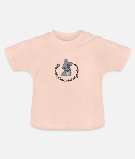 Heart Baby T-Shirts - Whoever doesn't flee is cuddled dead - Baby T-Shirt crystal pink