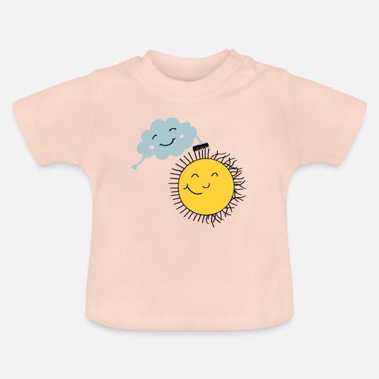 4b45bc9cb Morsom skjorte barn og babyer sky og sol Baby T-skjorte | Spreadshirt