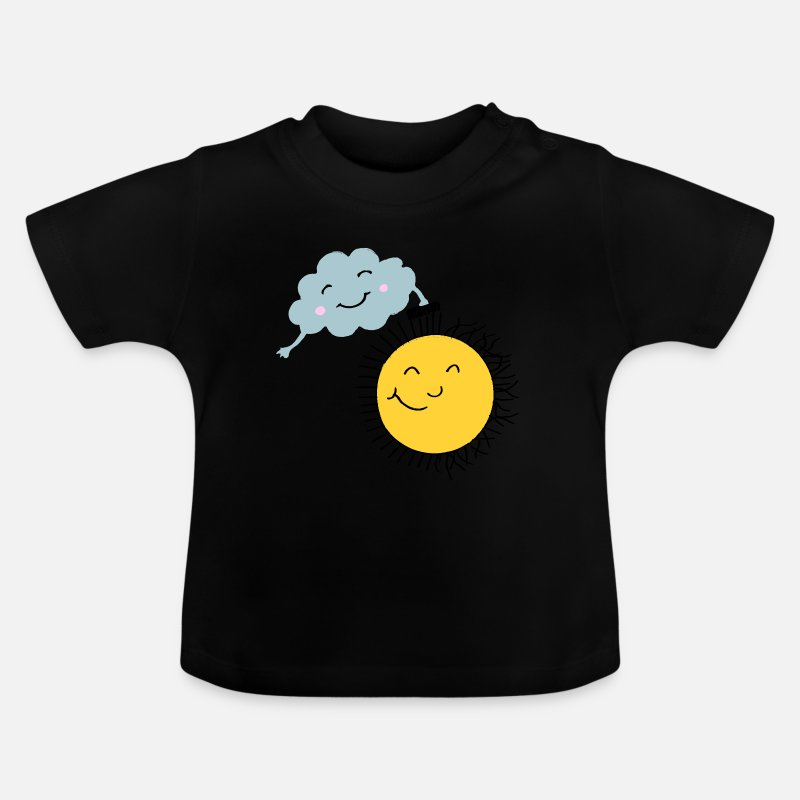 2d15fb0f3 Morsom skjorte barn og babyer sky og sol Baby-T-skjorte - svart