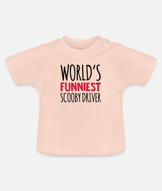Pilot Baby T-Shirts - worlds funniest scooby driver - Baby T-Shirt crystal pink