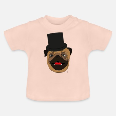 Wealthy The wealthy Pug - gift idea, monocle - Baby T-Shirt