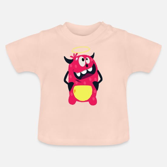 Monster Baby Clothes - Liebes Knuddelmonster - Baby T-Shirt crystal pink