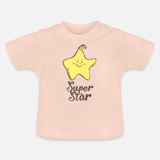Gift Idea Baby Clothes - Star: Super star - Baby T-Shirt crystal pink