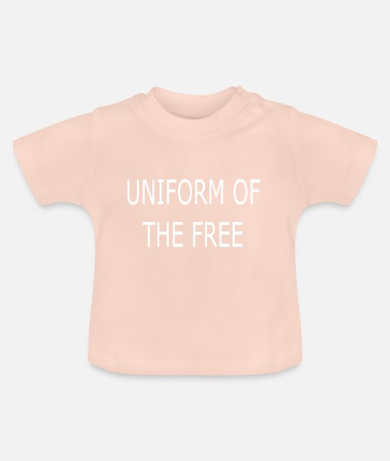 Brand Baby Clothes - Bestseller freedom uniform - Baby T-Shirt crystal pink