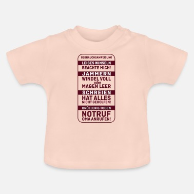 Usage Baby instructions for use, rules for the newborn - Baby T-Shirt