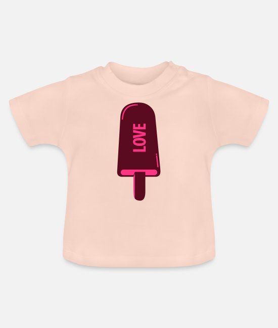I Love Baby T-Shirts - Ice Cream Love - Baby T-Shirt crystal pink