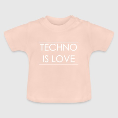 Techno - Rave Gift Music - Baby T-shirt