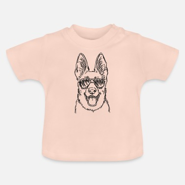 Dog Dog with sunglasses - Baby T-Shirt