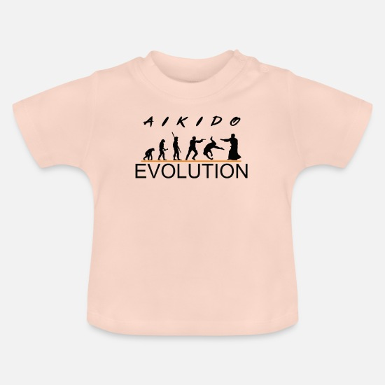 Karate Baby Clothes - aikido - Baby T-Shirt crystal pink