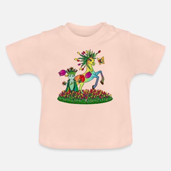 Flowers Baby Clothes - Ille the guardian of the meadows - Baby T-Shirt crystal pink