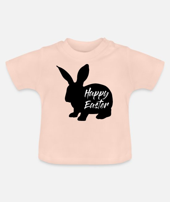 Easter Baby Clothes - Easter Bunny - Baby T-Shirt crystal pink