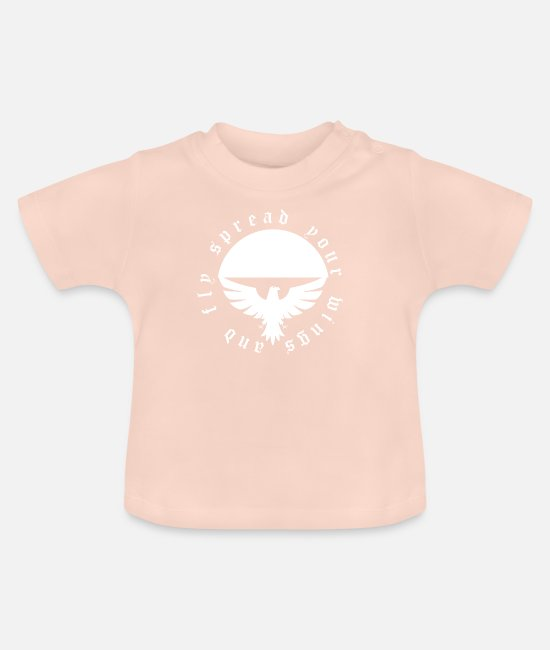 Symbol  Baby Clothes - Eagle - Baby T-Shirt crystal pink