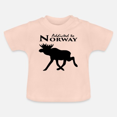 Noorwegen Verslaafd aan Noorwegen Addicted to Norway gift - Baby T-shirt