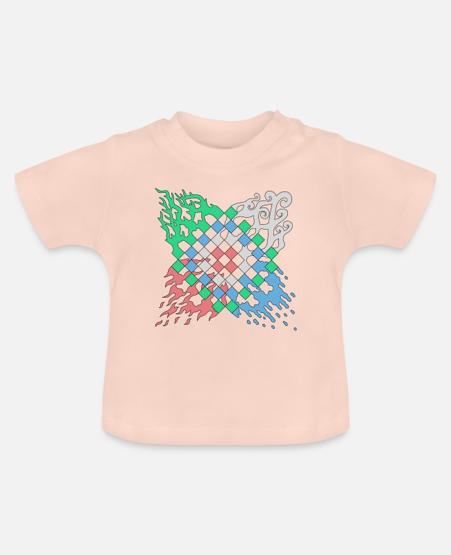 Pattern Baby T-Shirts - Elements motif - Baby T-Shirt crystal pink